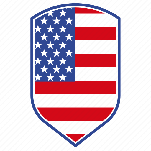 america, colors, flag, national, shield, usa icon icon