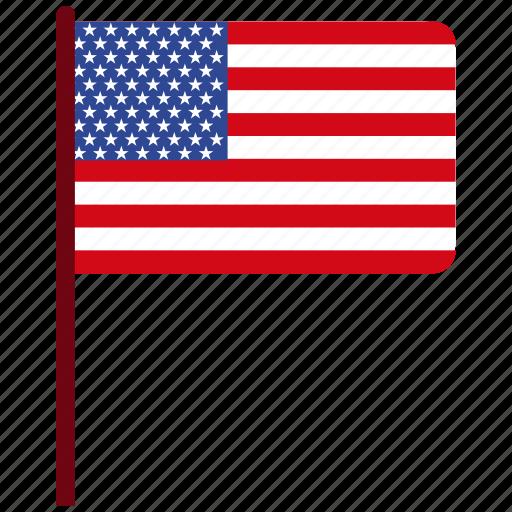 flag, usa icon icon