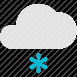 cloud, flake, flurry, snow, weather icon