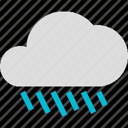 cloud, cloudy, heavy, rain, rainy, weather icon