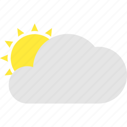 cloud, cloudy, day, mostly, sun, weather icon