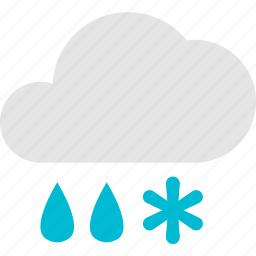 cloud, flake, flurries, shower, snow, weather icon