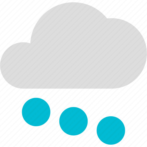 circles, cloud, cold, forecast, sleet, weather icon