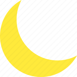 clear, crescent, moon, night, no cloud, pleasant, weather icon