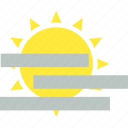 haze, hazy, sun, sunshine, weather icon