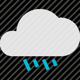 cloud, light, rain, rainy, weather icon