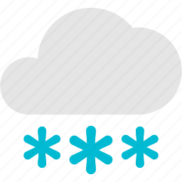 cloud, cold, flake, snow, weather icon