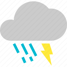 bolt, cloud, dark, lightning, rain, storm, thunder icon