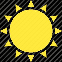 hot, sun, sunny, weather icon
