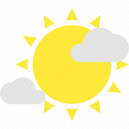 cloud, clouds, intermittent, sun, weather icon