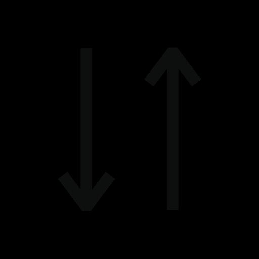 arrows, ascending, descending, match, order, sort, sorting icon