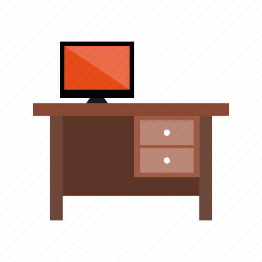 desk, furniture, office, table, workplace icon