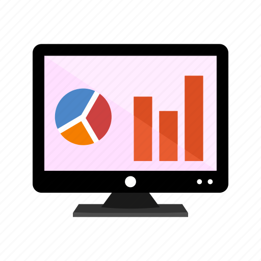 analysis, analytics, display icon, lcd, report, screen icon