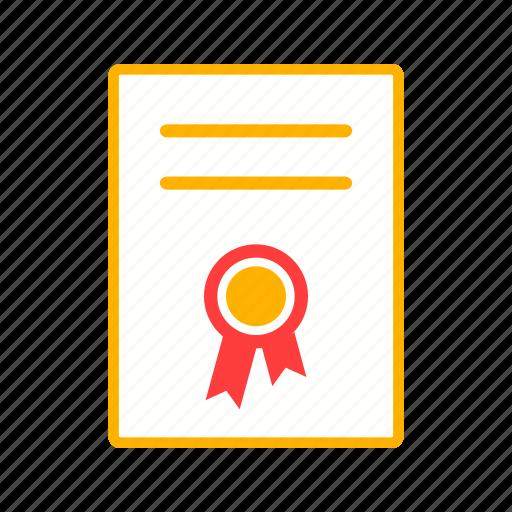 achievement, badge, certificate, degree, diploma, graduation icon
