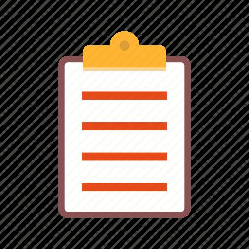 checklist, clipboard, document, paper, report, sheet icon