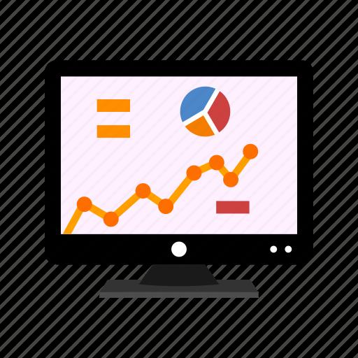 analytics, chart, device, growth, lcd, statistics icon