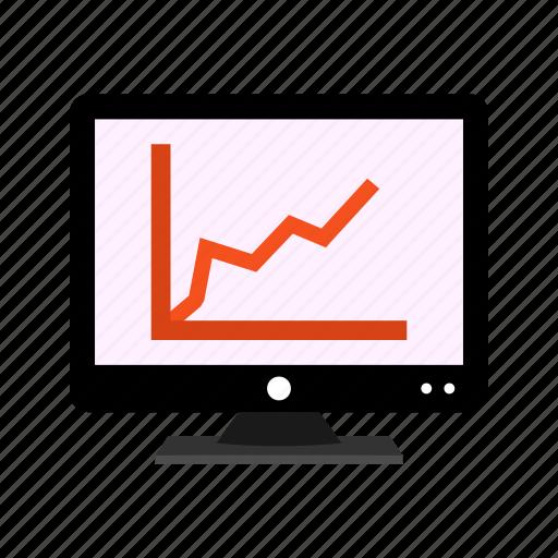 diagram, graph, lcd, report, screen icon