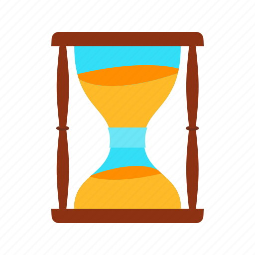 glass, hourglass, loading, sandglass, timer icon icon