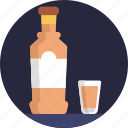 glass, drink, alcohol, bottle, wine