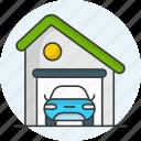 garge, garage, carport, service, vehicle, home, warehouse