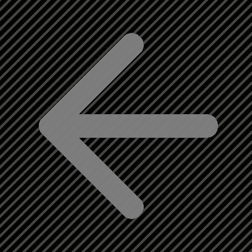 arrow, back, direction, left, west icon