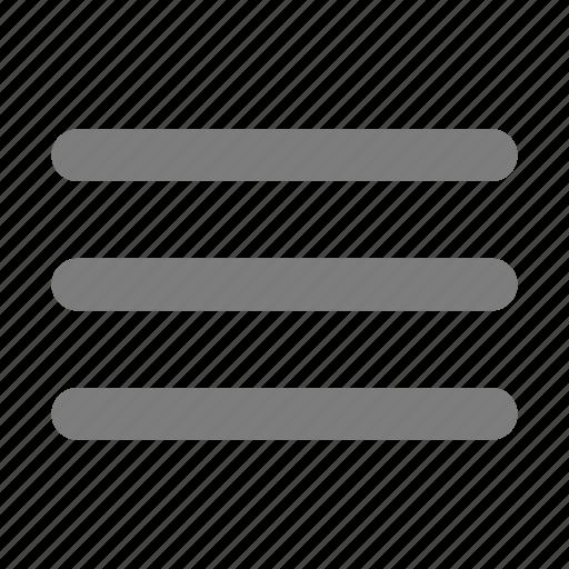 article, burger, lines, menu, navigation, rows icon