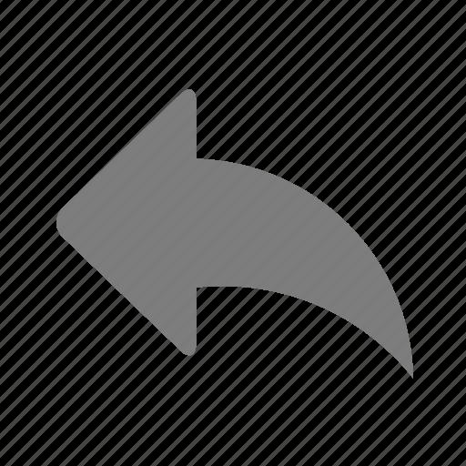 arrow, back, forward, reply, reverse, share icon