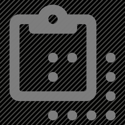board, clip, clipboard, copy, document, paper, select icon