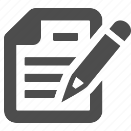document, file, pencil, text, writing icon