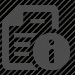 button, details, document, file, info, info button icon