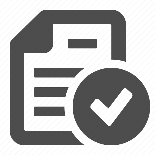 button, check sign, document, file, ok, page, verified icon