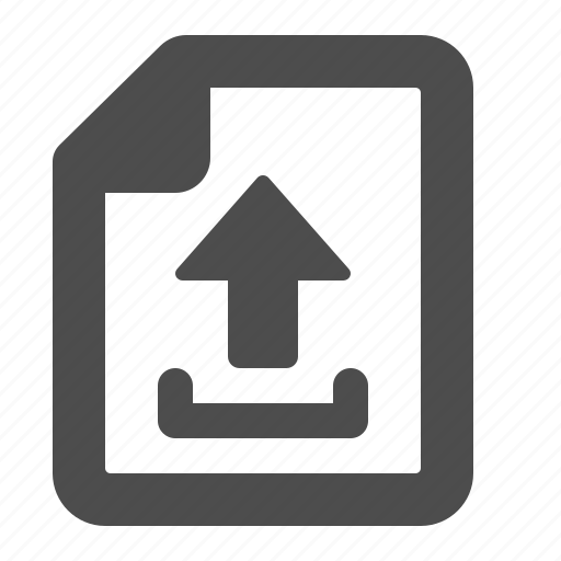 arrow, document, file, internet, page, upload, web icon