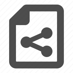 distribute, document, file, page, share, sharing, sheet of paper icon