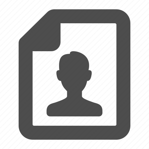 document, file, man, page, sheets, user icon