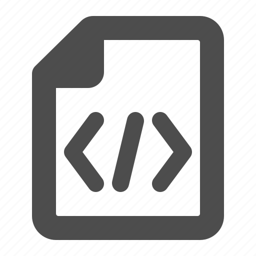 code, command, document, file, html, programming icon