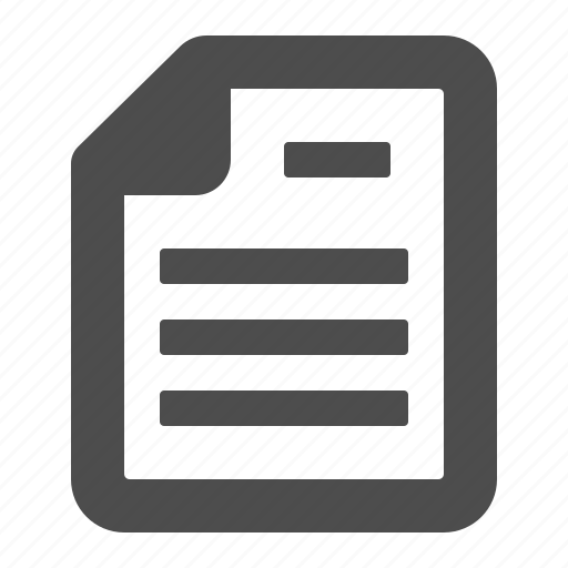 document, file, letter, page, paper, sheet, text icon