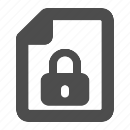 denied, document, file, lock, locked, security icon