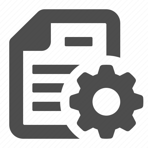 Cog, documents, files, gear, pages, settings, sprocket icon - Download on Iconfinder