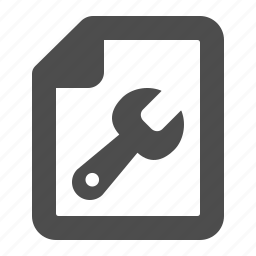 document, file, fix, repair, tool, wrench icon