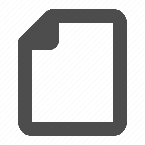 blank, document, empty, file, page icon