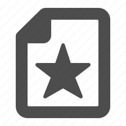bookmark, documents, favorite, files, pages, sheets, star icon