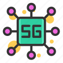 technology, network, communication, internet, connection, 5g, processor 5g