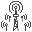 antenna, distribute, internet, small cell, 5g icon