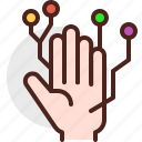 device, electronic, finger, signal, tech, technology icon