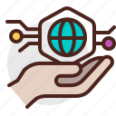 device, electronic, hand, holding, signal, technology icon