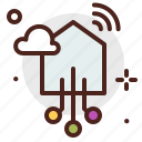 circuit, device, electronic, house, signal, technology icon