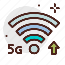 device, electronic, increased, signal, speed, technology icon