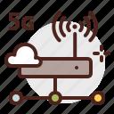 device, electronic, internet, server, signal, technology icon