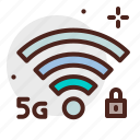 device, electronic, internet, locked, signal, technology icon