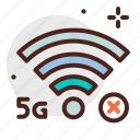 connection, device, electronic, no, signal, technology icon